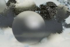 """""""Kozmik İletişim 1"""" 130 x 130 cm, 2015"""