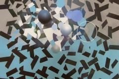 """""""Genetiği Dönüştürülmüş Mavi Yasaklar 2"""", 105 x 130 cm, 2013"""