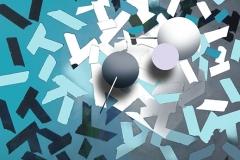 """""""Genetiği Dönüştürülmüş Mavi Yasaklar 1"""", 130 x 105 cm, 2011"""
