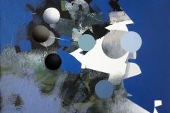 """""""Yörüngedeki Mavi Düşler"""", 50 x 60 cm, 2013"""