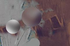"""""""Yörüngede Etkileşim ve Uyum"""", 80 x 80 cm, 2012"""