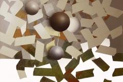"""""""Genetiği Dönüştürülmüş Mozaik Yasaklar"""", 50 x 60 cm 2013"""