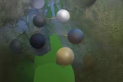 """""""Cennete Açılan Genetik Kapı"""" 40 x 50 cm, 2012"""