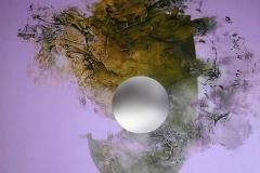 """""""Kozmik Patlama"""", 50 x 60 cm, 2015"""