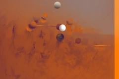 """""""Piramidal Yörünge 1"""", 110 x 130 cm, 2012"""