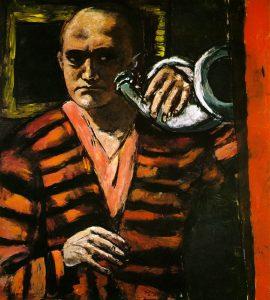 max-beckmann-kornali-portre-yagliboya-1918